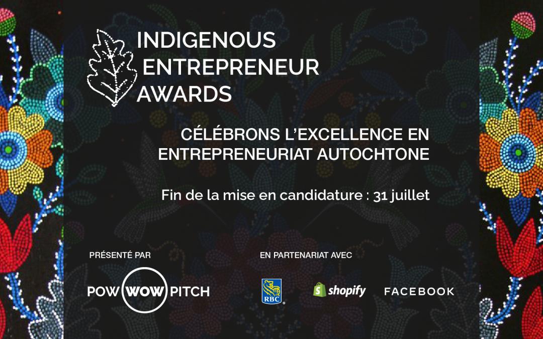 Appel aux candidatures pour les prix de l'entrepreneur autochtone